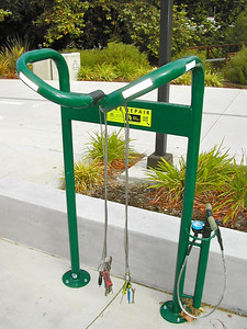 Bike repair stand at Cal State Poly in SLO