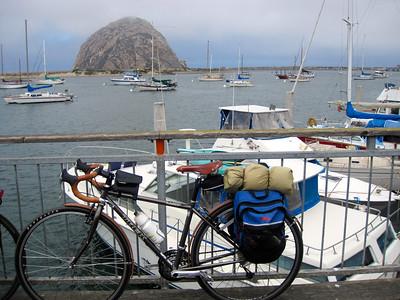 Jenny's bike posing in front of Morro Rock