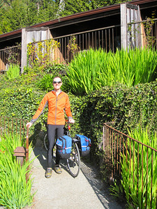 Going to our cabin (Esalen)