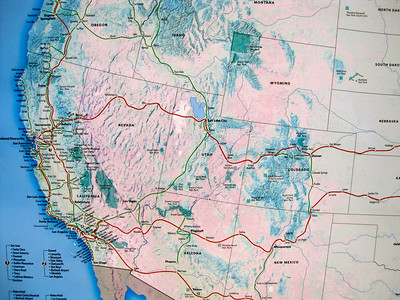 Amtrak map: I was surprised to see so many destinations accessible with Amtrak (bus or train)