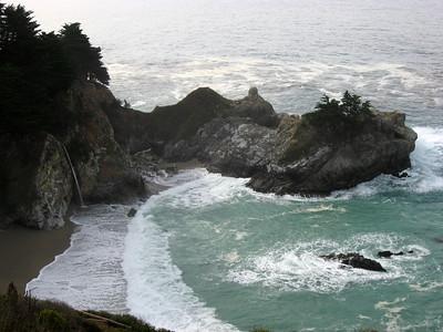 Waterfall in the ocean