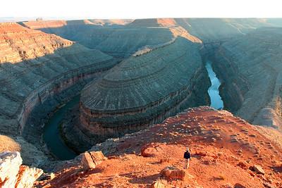 View of the Goosenecks: it's huge!