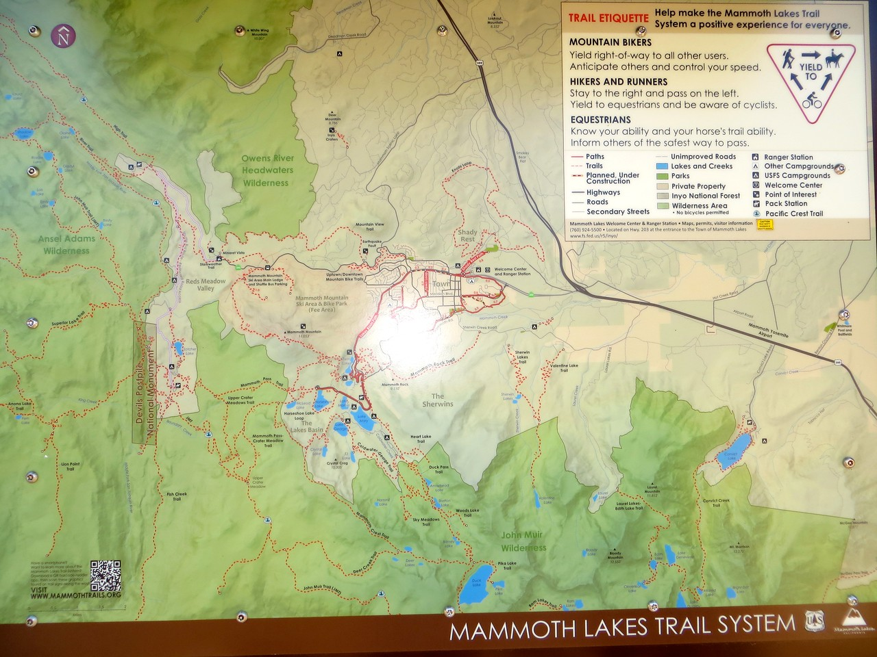 An overview of the Mammoth Lakes Trail System: IMPRESSIVE!