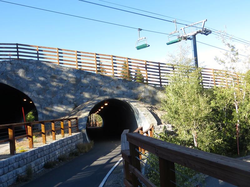 Tunnel under ski slope.