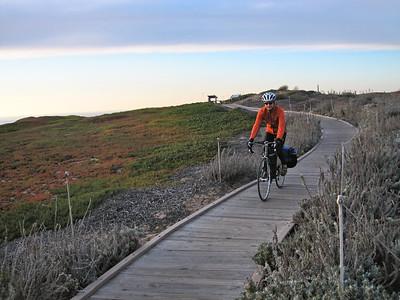Sand dunes close to Monterrey (Dave is wearing his new Novara jacket)