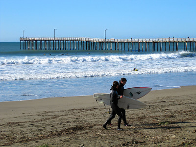 Surfers in Cayucos