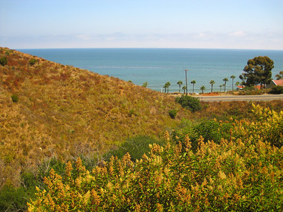 Beginning of Latigo Canyon Rd (view on PCH)