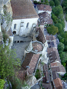 View down to the Cite (from chateau)