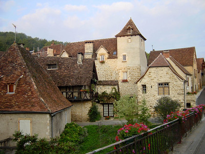 Carennac, a small village famous for its typical Quercy houses and turrets.