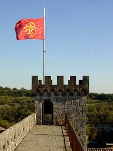Chateau de Rocamadour (drapeau occitan)