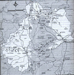 Map from our Lonely Planet