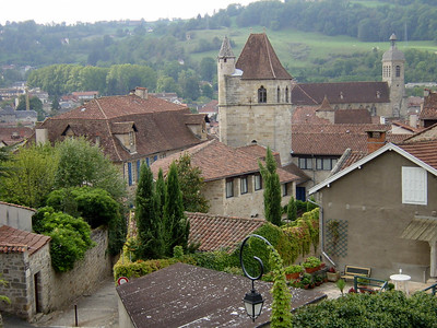 View of Figeac, a nice town with many houses dating from the 12th to 18th centuries.