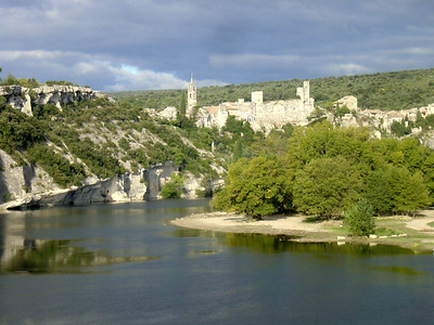 View of Aigueze (end of the Gorges d'Ardeche)