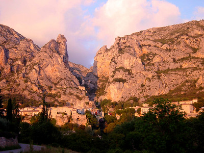 Sunset on Moustiers-Ste-Marie