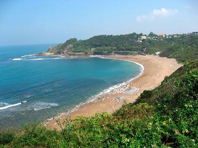 Beautiful coast on the way to Saint Jean de Luz