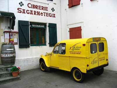 Cider is a popular drink in the Basque country