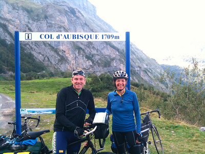 Another rider ready to climb Col d'Aubisque