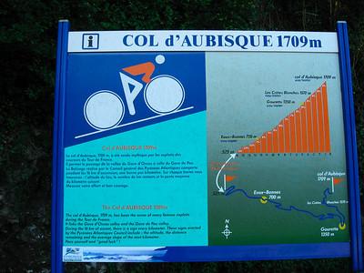 Day 1: Famous Tour de France, Col d'Aubisque  http://en.wikipedia.org/wiki/Col_d'Aubisque