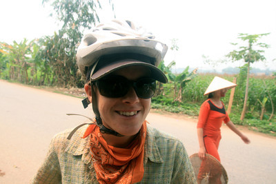 Photo by Adam Hughes. After my crash on my first day in Vietnam (you can kind of see the huge dent/chip in my glasses).