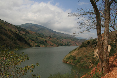 The first days in China we biked past several large hydro-electric dam reservoirs. The hills were mostly cleared and under cultivation, the roads were amazingly smooth.