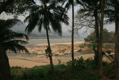 The view of the Mekong from Luang Prabang, a lovely town to rest in for a few days even if it was very touristy.