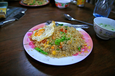 Fried rice. Original. But filling and delicious.