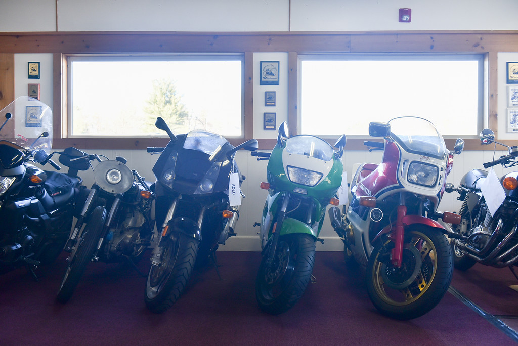 . (03/19/18 AYER MA) A mix of new school and old school for sale bikes are on display at Bikeworx in Ayer on Monday.  SENTINEL & ENTERPRISE JEFF PORTER