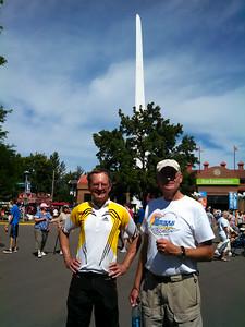 Jim, Roger, and wind turbine blade