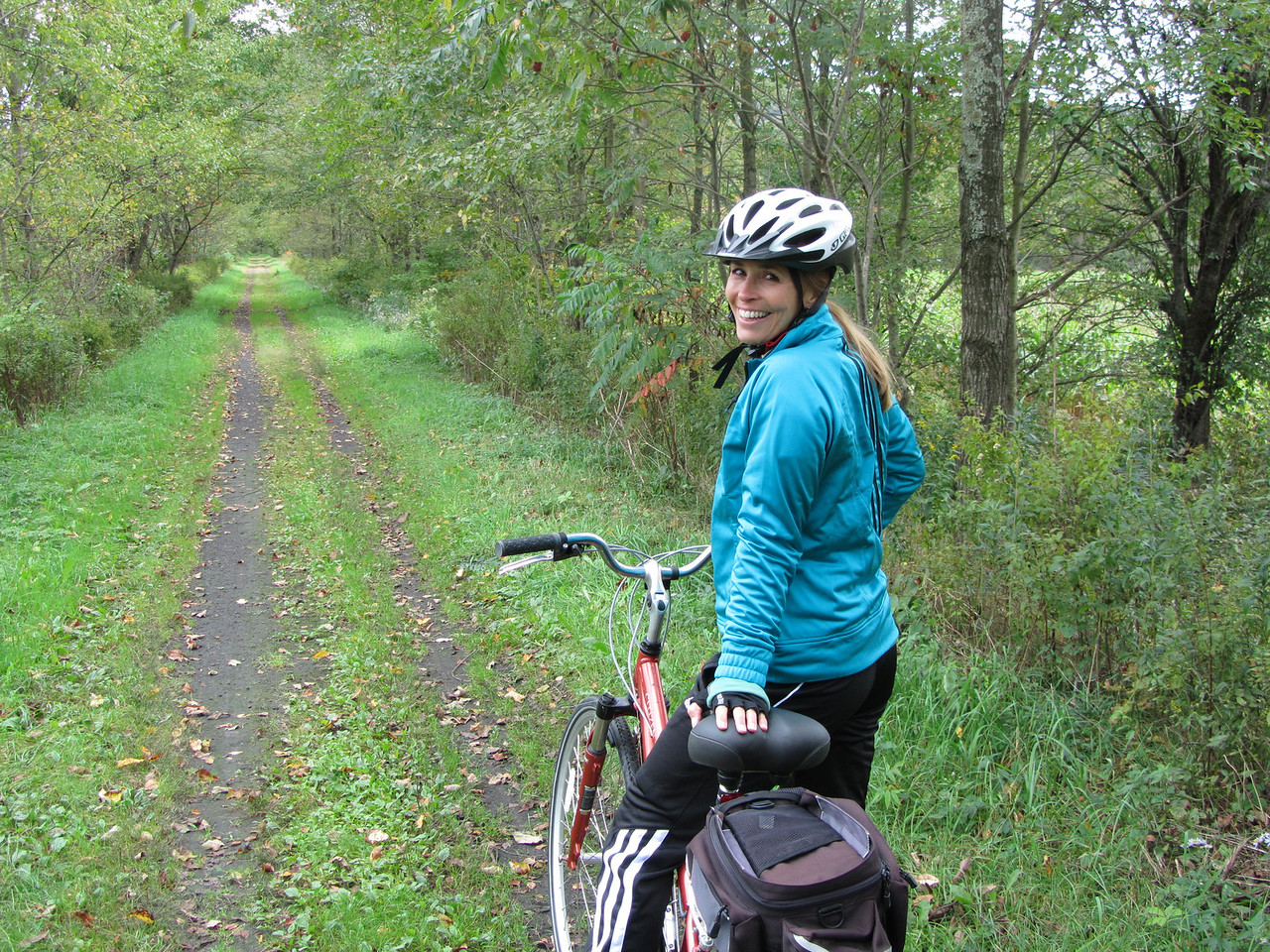 First section of trail was not bad, but definitely not a paved or gravel bike path as pictured in the website.