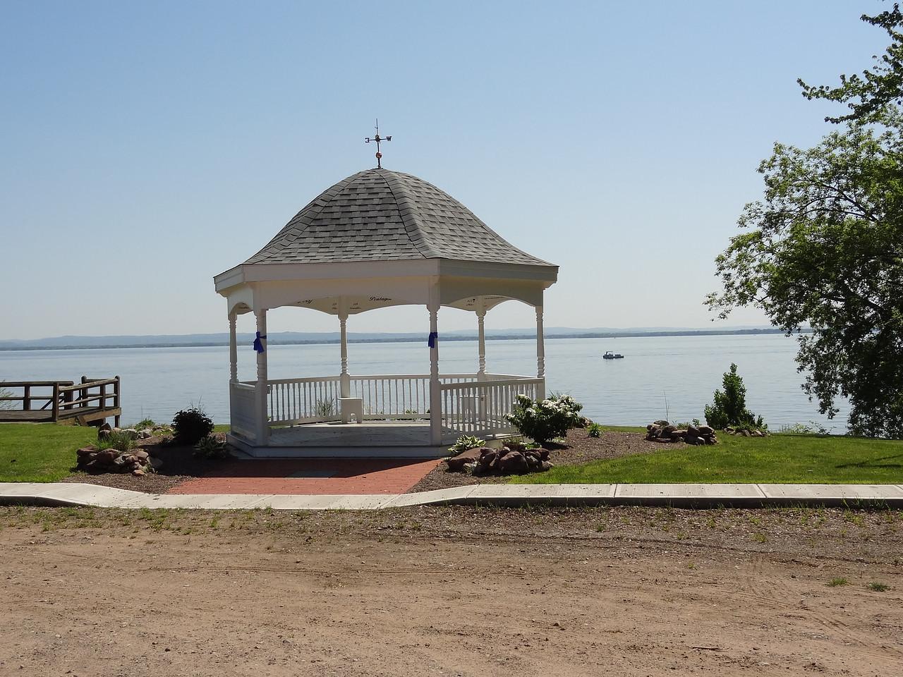 Gazebo in Cleveland, NY overlooking the lake.