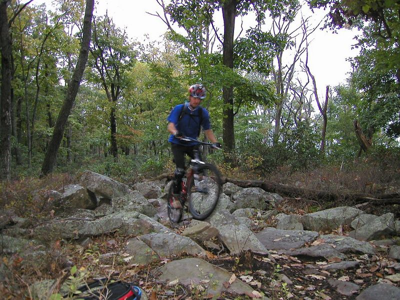 Darryl  doing what we all love about Tussey....gliding over the rocks. 2004