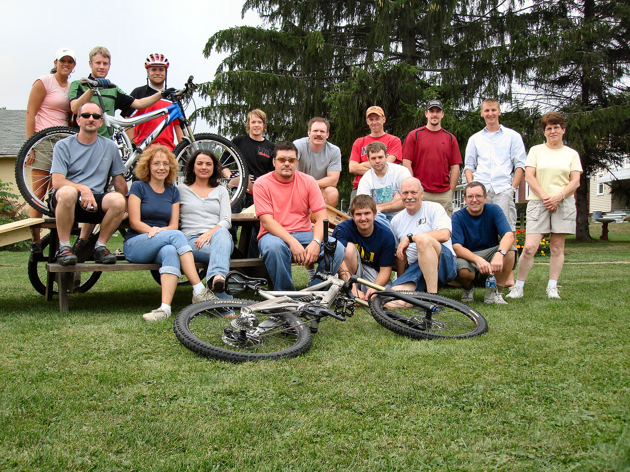 "The 1st annual ""Single Track Minds"" party by the Ancient One & Edie @ their Mtn Bike Terrain Park.<br /> The gorgeous & handsome participants are: Alison, Matt, Darryl, Troy, Angie, Jen, Rick, Harry, Robby, Josh, Don, Kevin, The Ancient One, Dolan, Brian, Ray, & Edie."
