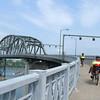Over the Peace Bridge into Canada.
