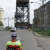 Approaching a bridge in Buffalo.