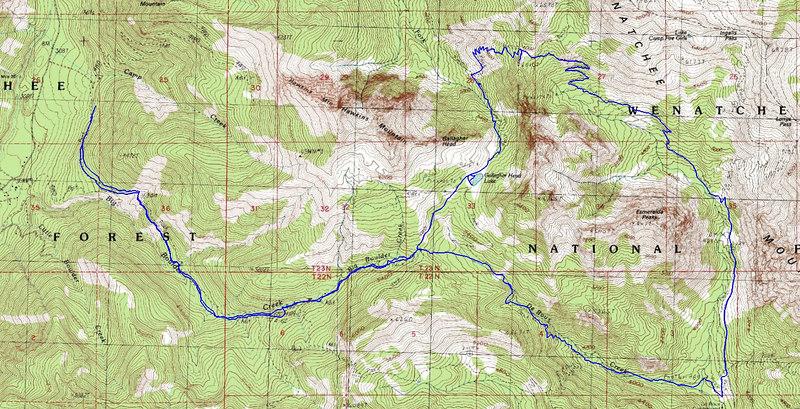 Boulder Creek to Esmeralda Loop