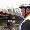 Bill Kelleher, tour organizer, points out the attributes of his home town.  As we wound around Pittsburgh, it became apparent to me how deep Bill's love for this town is, and how important it was that he pass that on to us.