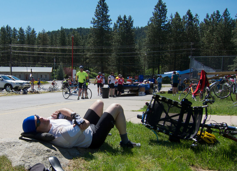 Napping in Leavenworth.