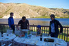 Dinner setting on in Entiat.  Nigel grilled the salmon to perfection.