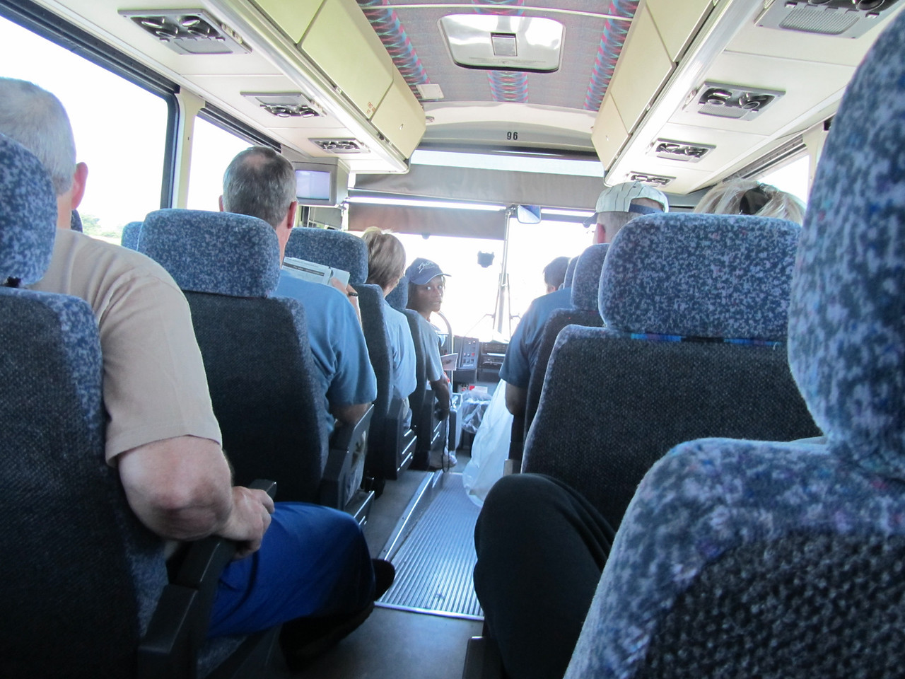 Let the adventure begin! Riding the tour bus from Albany to Buffalo.