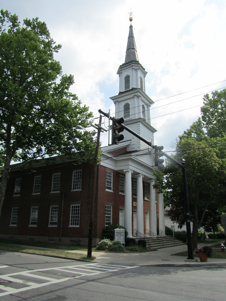 The Western Presbyterian Church on the NE corner.
