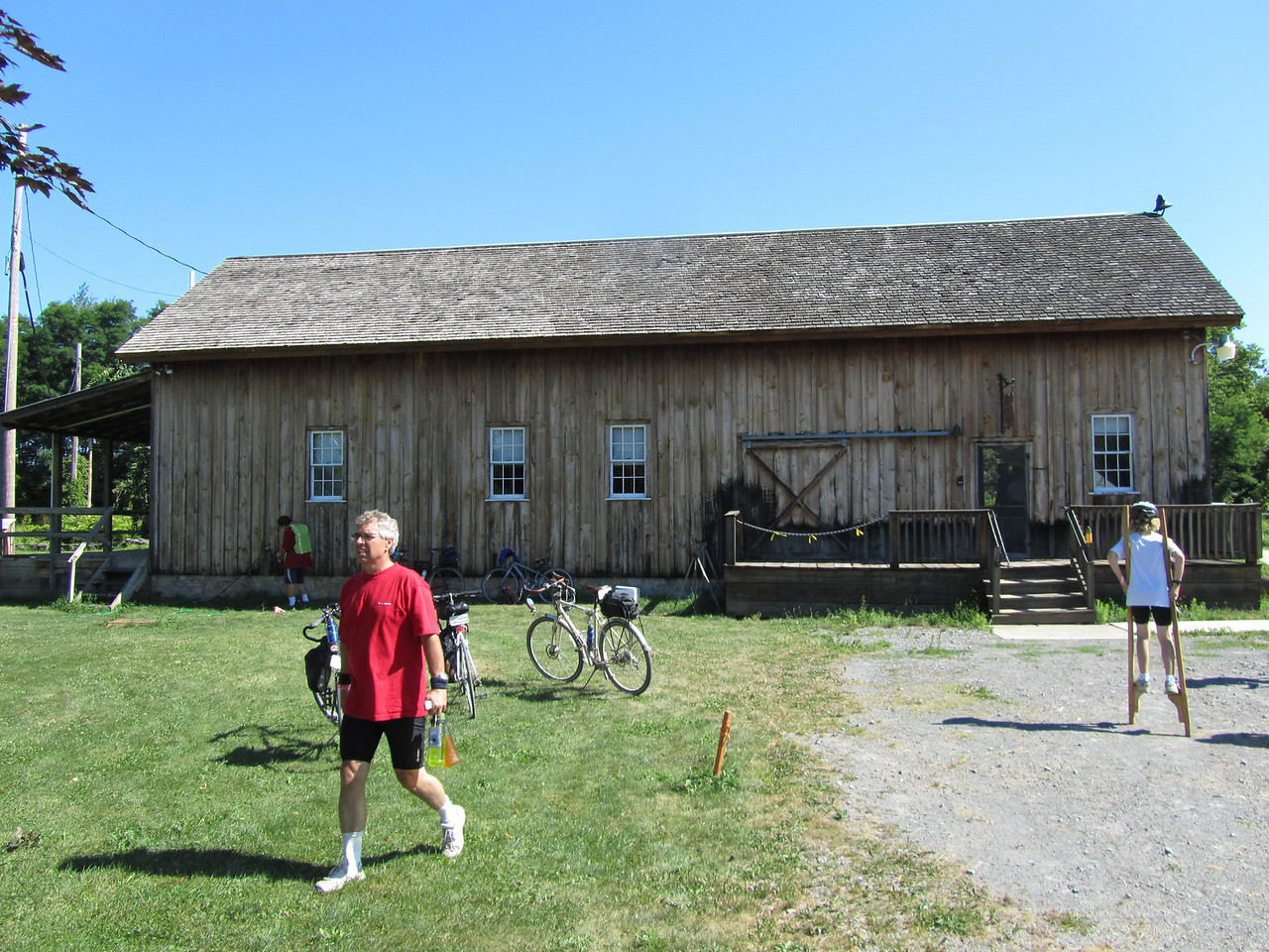 Chittinango boat landing museum. The dry docks and boat building barns are still standing.