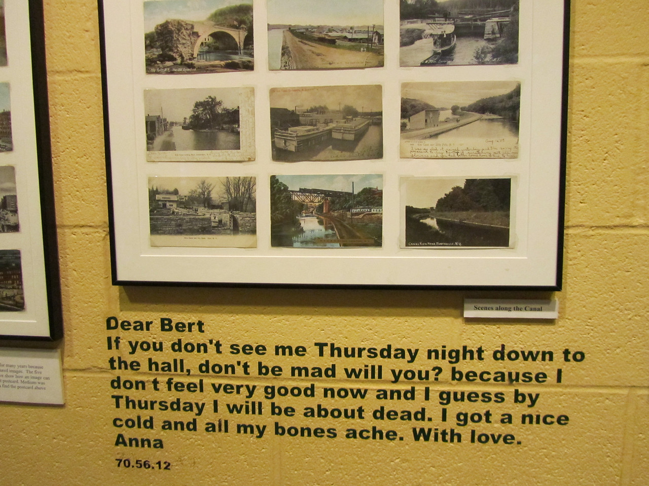 Some old postcards. That's a pretty good excuse for missing a date if you asked me.