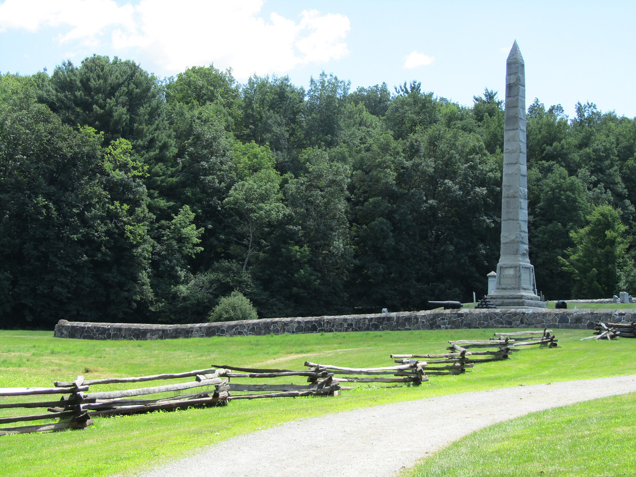 Monument at Herkimer homestead.