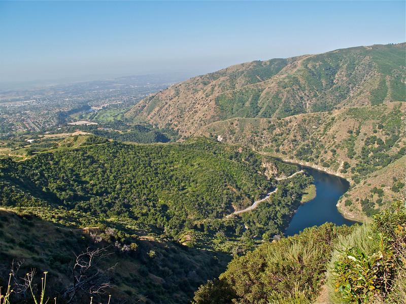 San Dimas Reservoir.