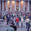 Before the group photo at the statehouse steps.