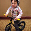 Youngest TOSRV rider seen in lobby Friday.