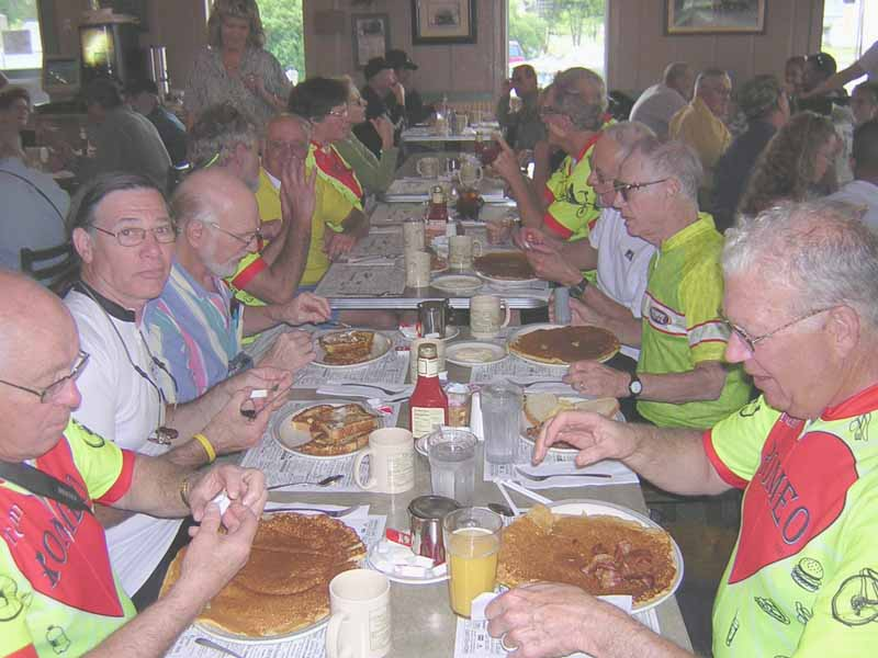 A late start with breakfast at the Circle O Restaurant in Deerfield.  The pancakes can be used as spares if necessary.