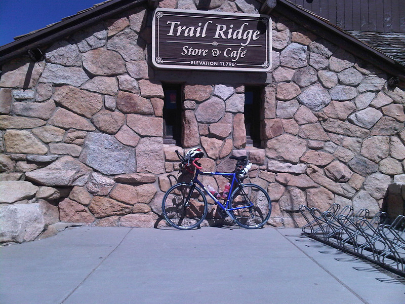 parking at the Alpine Visitors Center while inside having a brat to recuperate