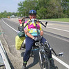 """Ran into Hans on rte. 43 in Twin Lakes.  He's been on the road continously since 1993 - 170,000 miles so far.  He helps out in disaster areas, works on Habitat for Humanity projects, helps churches organize to better support community in need.  For more - <a href=""""http://www.pedalprayers.org/"""">http://www.pedalprayers.org/</a>"""