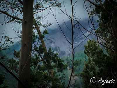 Day 1: View of Mt. Merapi (3 km away)